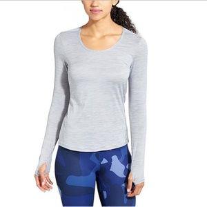 Athlete Slate Gray Shadow Stripe Chi Top Size Medium